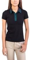 Prada Women's Cotton Polo Shirt Black