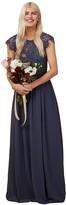Thumbnail for your product : Little Mistress Bridesmaid Sonja Gunmetal Lace Maxi Dress 6 UK Gunmetal