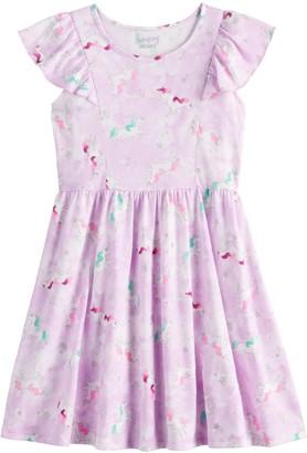 Girls 4-12 Jumping Beans Print Skater Dress