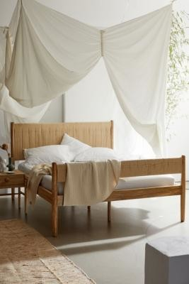 Urban Outfitters Woodrow King Bed - Beige ALL at