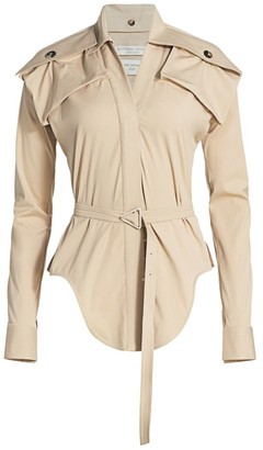 Bottega Veneta Patch Pocket Belted Blouse