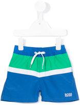 Boss Kids colour block swim shorts