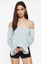 KENDALL + KYLIE Kendall & Kylie Flounce Off-The-Shoulder Top