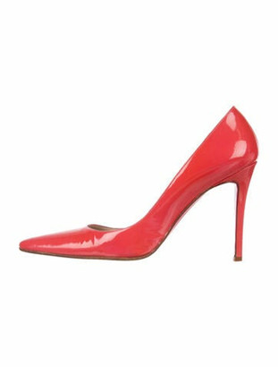 Christian Louboutin Patent Leather D'Orsay Pumps Pink