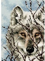 Dimensions Wolf Gold Petite Counted X Stitch, White
