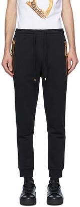 Moschino Black Large Zipper Lounge Pants