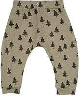 Rylee + Cru Tree-Print Cotton Pants-GREEN