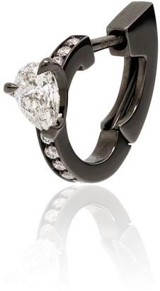 Repossi 18kt black gold Harvest diamond huggie earring
