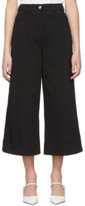 Cédric Charlier Black Wide-Leg Jeans