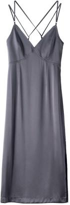 Voya Draco Silver Silk Dress