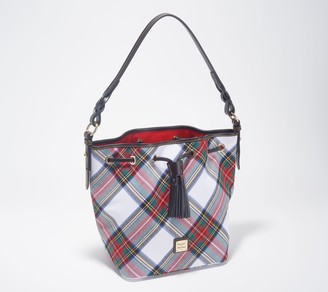 Dooney & Bourke Tartan Plaid Tasha Drawstring Bag