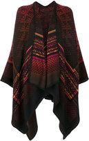 Missoni intarsia knit poncho