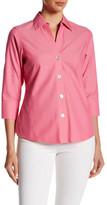 Foxcroft 3/4 Length Sleeve Solid Shirt