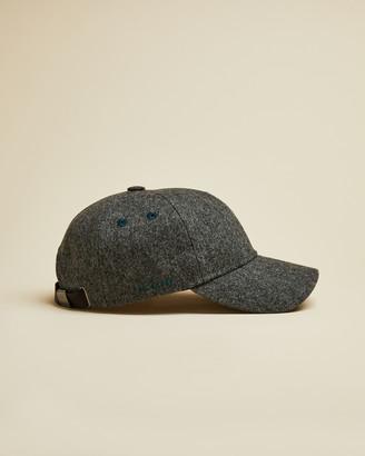 Ted Baker HESTUN Semi plain wool blend baseball cap