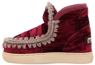 Mou Velvet Eskimo Shearling Ankle Boots