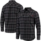 Columbia Unbranded Men's Black Texas A&M Aggies Plaid Collegiate Flare Gun Long Sleeve Flannel Button-Up Shirt