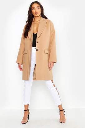 boohoo Wool Look Boyfriend Coat