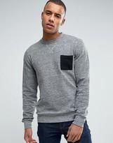 Esprit Crew Neck Sweatshirt with Contrast Pocket