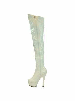 "Highest Heel Legend Thigh High Platform Stretch Boots with 6"" Heel"