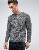 ONLY & SONS Knitted Sweater with Raglan Sleeve and Mixed Yarn