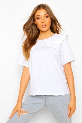 boohoo Peterpan Collar T-shirt