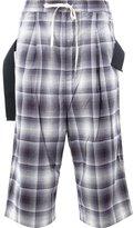 Miharayasuhiro checked drop-crotch trousers - men - Cotton/Rayon - 52