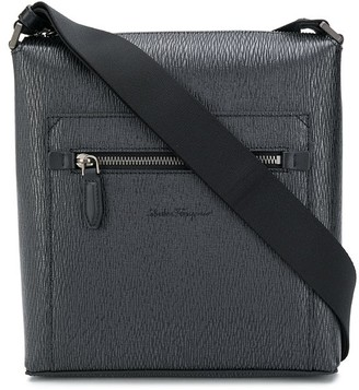 Salvatore Ferragamo Top Zip Messenger Bag