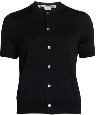 Comme des Garcons Double Layer Short-Sleeve Cardigan