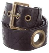 Christian Dior Cannage Leather Belt