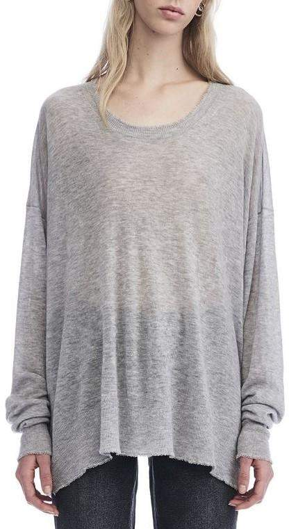 Alexander Wang Distressed Edge Sweater Grey