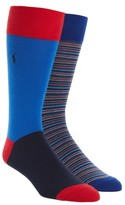 Polo Ralph Lauren Men's Stripe 2-Pack Socks