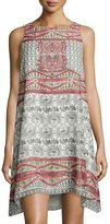 Max Studio Relaxed Mosaic-Printed Dress
