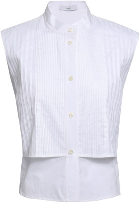 Tome Layered Pintucked Cotton Top