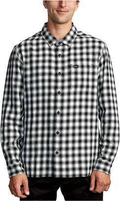 RVCA Men Telegraphc Relaxed-Fit Plaid Flannel Shirt