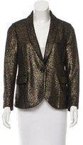 Sonia Rykiel Metallic Shawl Collar Blazer w/ Tags