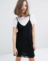 Monki Lace Cami Mini Dress