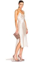 Juan Carlos Obando Flora Charmeuse Slip Dress