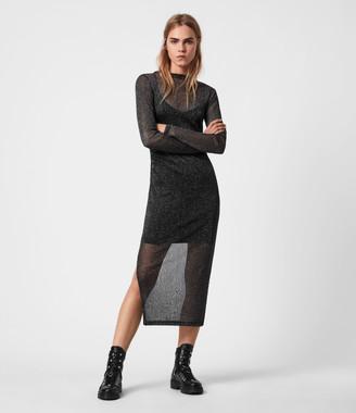 AllSaints Francesco Metallic Dress