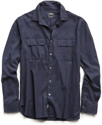 Todd Snyder Lightweight Italian Military Shirt in Navy