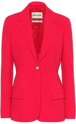 Roberto Cavalli Stretch-crepe blazer