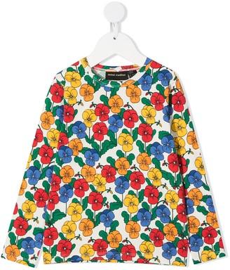 Mini Rodini floral-print T-shirt