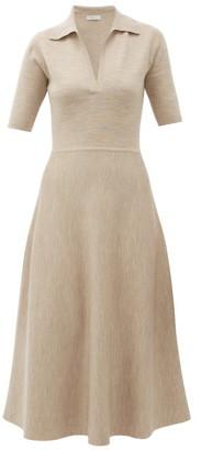 Gabriela Hearst Bourgeois Wool-blend Midi Dress - Womens - Beige
