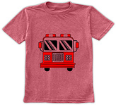 Urban Smalls Heather Red Fire Truck Crewneck Tee - Toddler & Boys