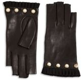 Gucci Studded Leather Fingerless Gloves