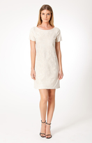 Hale Bob Cameo Suede Dress In Ivory