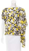Robert Rodriguez Silk Abstract Print Top