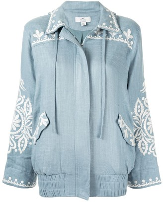 We Are Kindred Positano embroidered hooded jacket