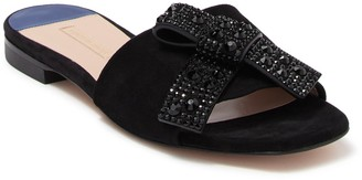 Stuart Weitzman Milky Suede Slide Sandal