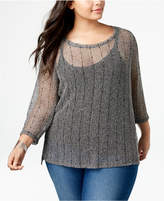 INC International Concepts I.n.c. Plus Size Sequined Top, Created for Macy's