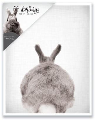 mavisBLUE Bunny Bum Print